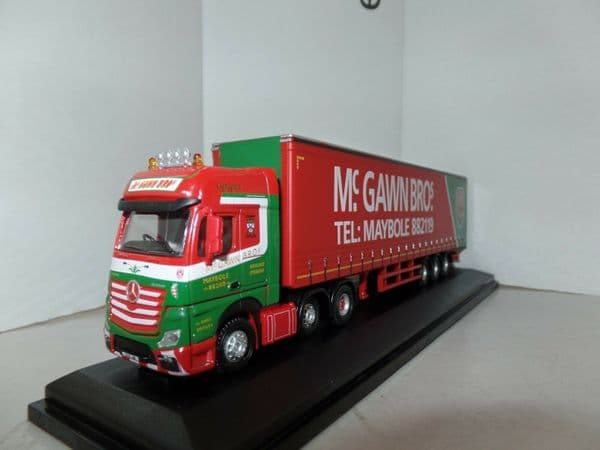 Oxford 76MB007 MB007 1/76 OO Scale Mercedes Actros GSC Curtainside McGawn Bros